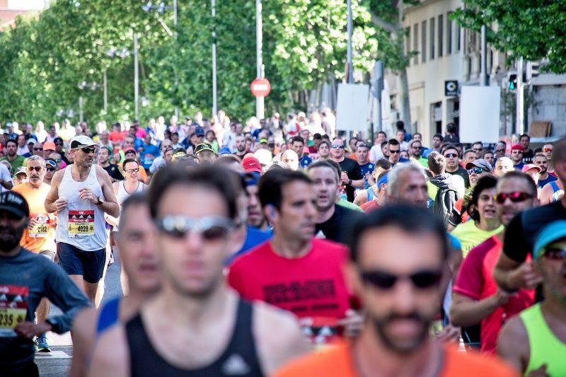 people running on street